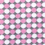 WINTER STIP Flausch rosa grau weiß