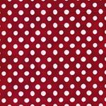 EMILIE Popeline Dots rot weiß