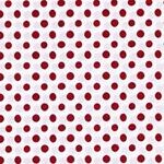 EMILIE Popeline Dots weiß rot