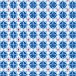 EMILIE Popeline Muster blau