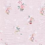 MIRIAM Double Gauze Musselin Blumen rosa
