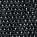 FIGURINE Viskose Blumenmuster schwarz