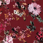 BOE-FLEUR Krepp-Viskose Blüten rot