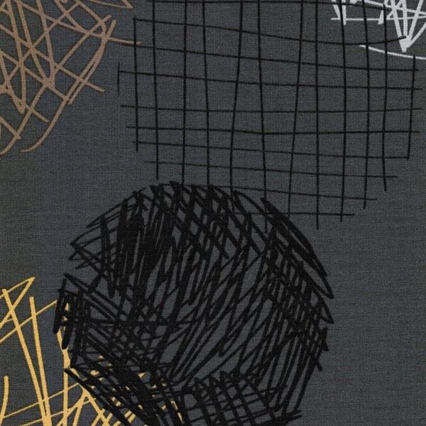BUBBLES Jersey Modal grau