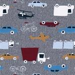 FLEET-SHIRT Jersey Fahrzeuge grau bunt