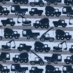 WORK SITE Jersey Baufahrzeuge blau grau