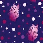 MAJESTIC HORSES Sweat Pferdeköpfe lila