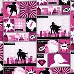 COMICSTRIP Sweat Comicmotive pink