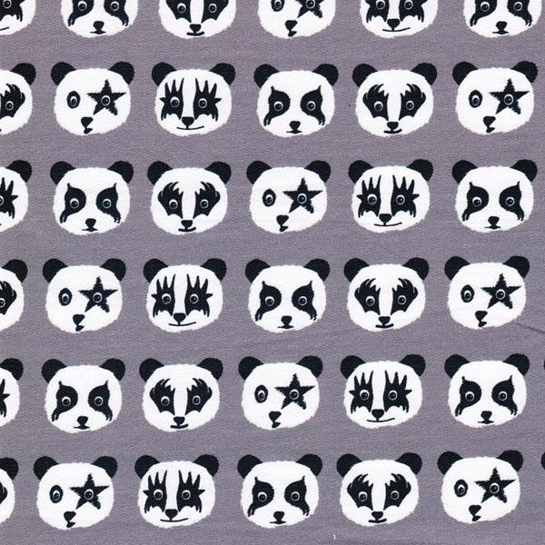 TROUBLE PANDA Sweat Pandaköpfe taupe