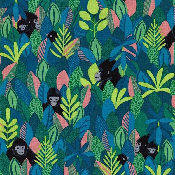 BWINDI FOREST gew. Baumwolle Gorillas