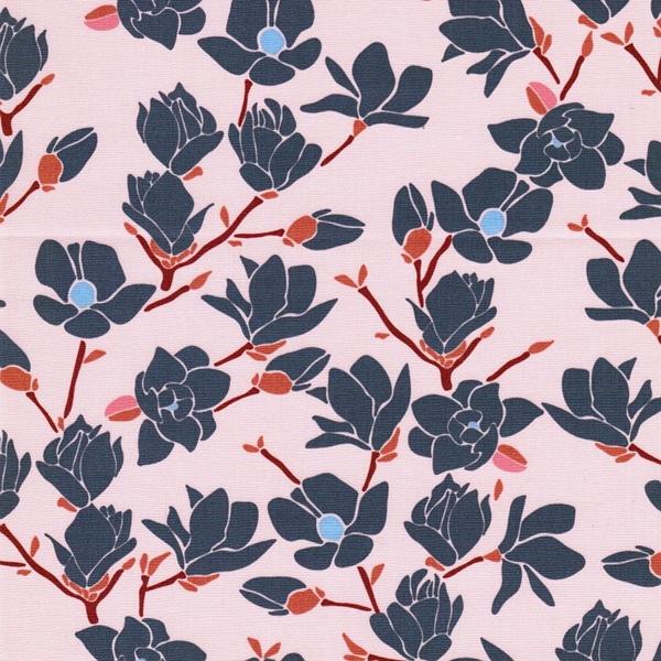 MAGNOLIA SUNSET Popeline Blumen zartrosa