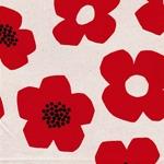 TREFLE - große Blumen rot natur