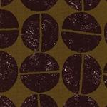 TREFLE - große Kreise braun olivgrün