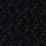 Viskosejersey Blumenranken dunkelblau