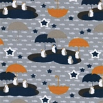 VERA Jersey Pinguine grau blau senfgelb
