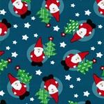 RAIK Sweat Weihnachtsmänner petrol
