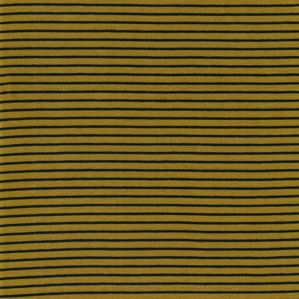 STRIPES Organic Jersey mustard navy