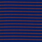 STRIPES Organic Jersey Bambus sienna blu