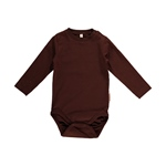 Maxomorra Body Longsleeve dark brown