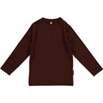 Maxomorra Top Longsleeve dark brown