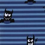 SHELDON Softshell Streifen Monster blau