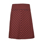 King Louie BORDER SKIRT LONG TWO TONE st