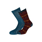 King Louie SOCKS 2-PACK MARBLE orient bl