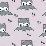 HAPPY BAT organic Jersey grey pink