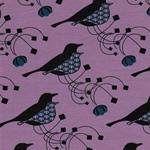 CHARLOTTE Jersey Vögel flieder petrol