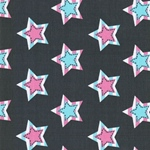 STAR PATCH Jersey grau mint rosa