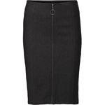 Minus KARIN ZIP SKIRT dark grey melange
