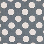 DOTS Canvas Punkte grau natur
