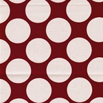 BIG DOTS Canvas Punkte rot natur
