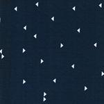 PAULINE Viskosejersey Dreiecke jeansblau