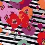 PAPAROUNES SPICES Jersey Streifen Blumen