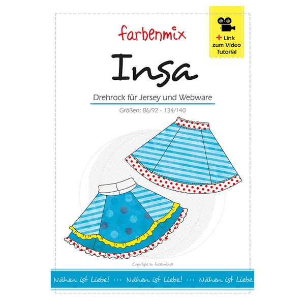 Farbenmix Schnittmuster INSA