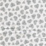 HEARTS Webstoff grau