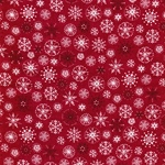 SNOWFLAKES Webstoff rot