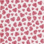 HEARTS Webstoff rot