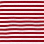 VAUBOURG Viskosejersey Streifen rot weiß