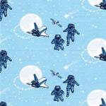 TO THE MOON Jersey Astronauten hellblau