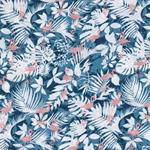 COARI BAY Viskose Flamingos blau