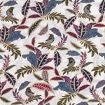 MAPIA FLOR Viskose Blätter Vögel creme