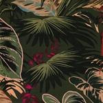 YOPAL Baumwollsatin Tropenblätter khaki