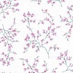ASIA FLEUR Baumwollsatin weiß pink