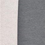 Doubleface-Teddy grau melange