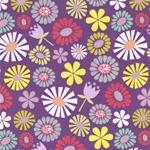 PIPPIT MOESBY Webstoff Blumen violett