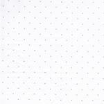 PUNTILLADO Batist Pünktchen weiß silber