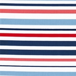 JOCY STRIPE Popeline Streifen blau rot