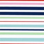 JOCY STRIPE Popeline Streifen blau mint